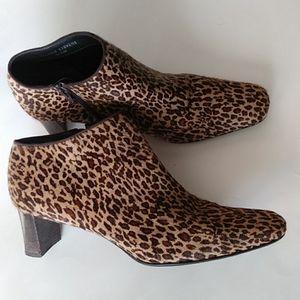 🍁Valerie Stevens Val Flex Leopard Print Booties